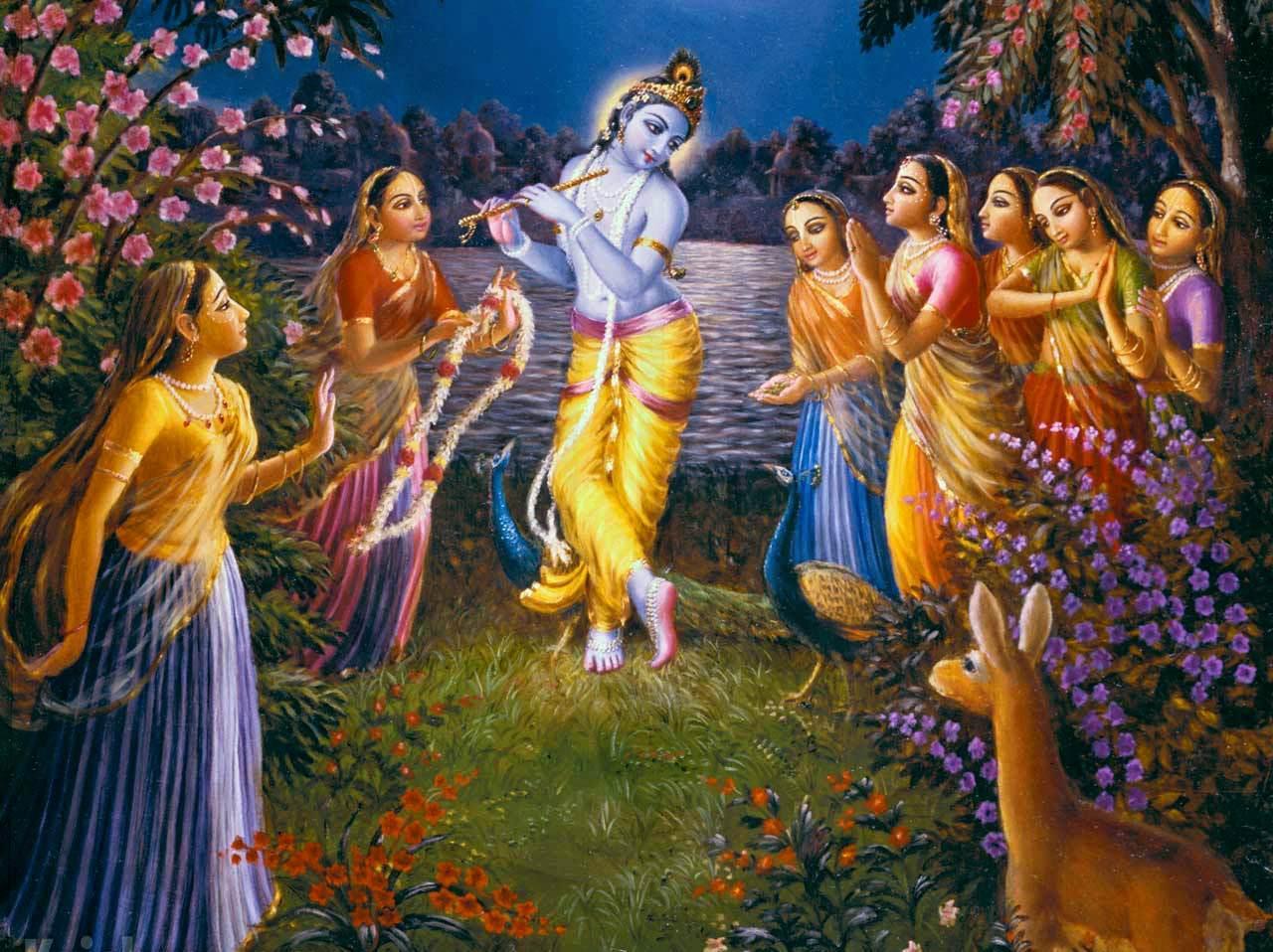 Risultati immagini per Krishna e le gopi
